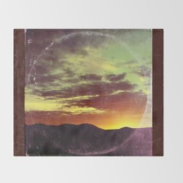 American Sunset As Vintage Album Art Throw Blanket