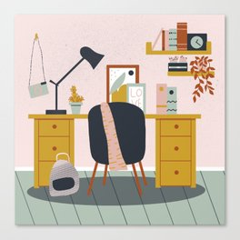 My workspace Canvas Print
