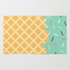 Mint Ice Cream with Sprinkles Rug