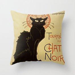 BLACK CAT Tournee du Chat Noir Throw Pillow