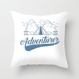Camping Camper Tenting Trekking Throw Pillow