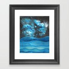 Beautiful Galaxy Framed Art Print