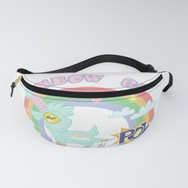 POW! Rainbow Goat Kicking Ass for Equality Fanny Pack