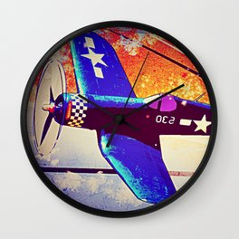 F4U Corsair Pop Art Wall Clock