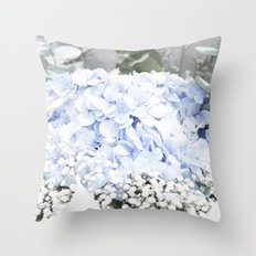 Hydrangea dreams Throw Pillow