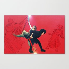 Fight in the Throne Room Canvas Print