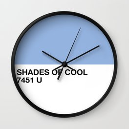 shades of cool Wall Clock
