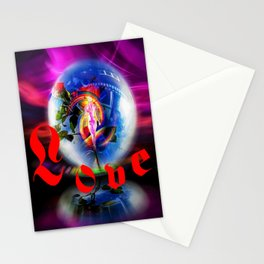 Love greetings  by  Airmail. Stationery Cards