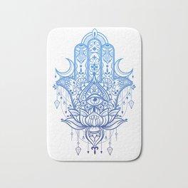Hamsa Lotus Hand Bath Mat