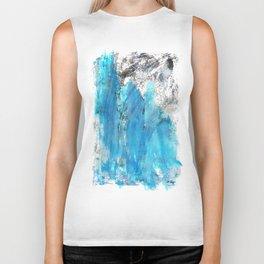 Modern Abstract Art - Blue Essence - Sharon Cummings Biker Tank