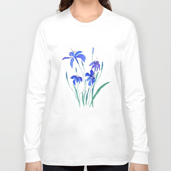 blue day lily Long Sleeve T-shirt