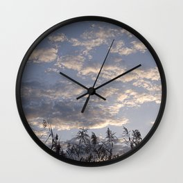 Fall Sky Wall Clock