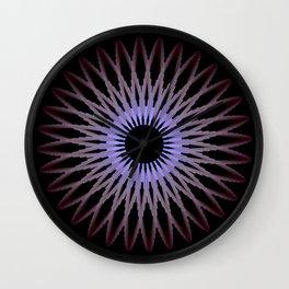 Deep Purple Flower Wall Clock