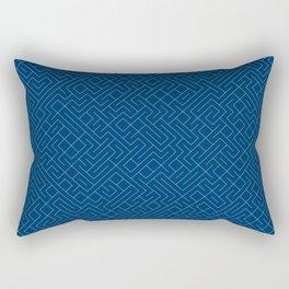 10 Print: Thin Blue Rectangular Pillow