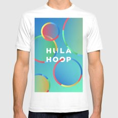 Hula Hoop White MEDIUM Mens Fitted Tee