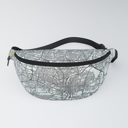 Raleigh, NC, USA, White, City, Map Fanny Pack
