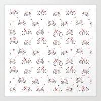 bikes Art Prints featuring bikes by Marcelo Badari