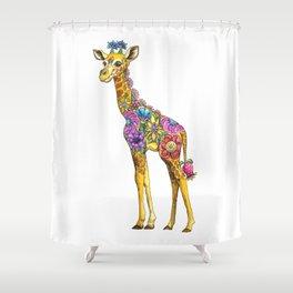 Geraldine the Genuinely Nice Giraffe Shower Curtain