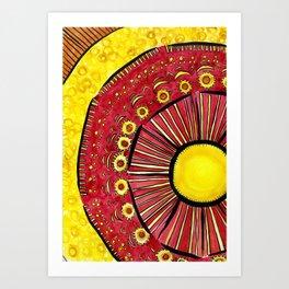 Sunflower Summer Art Print