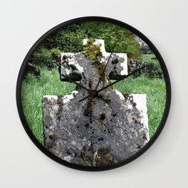 Leaning Headstone Wall Clock