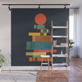 Book stack with a ball Wall Mural