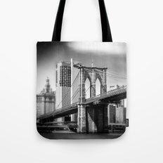 Brooklyn Bridge in B&W Tote Bag