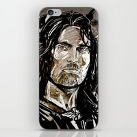 gondor iPhone & iPod Skins featuring Aragorn by Patrick Scullin