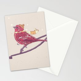 Winter Finch Stationery Cards