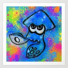 I've Got an Inkling - Blue on Blue Art Print
