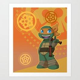 TMNT Chibi Mikey Art Print