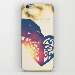 Heart of wax iPhone Skin