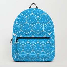 Icosahedron Pattern Bright Blue Backpack