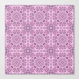 Pink kaleidoscope wallpaper Canvas Print