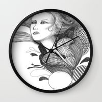 beethoven Wall Clocks featuring Beethoven by Wendy Ding: Illustration