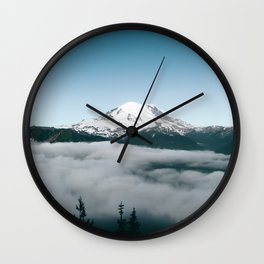 Mount Rainier X Wall Clock
