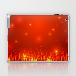 Flames from the fire and spark. Laptop & iPad Skin