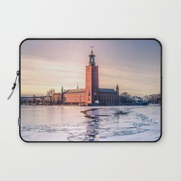 Stockholm City Hall in Winter Laptop Sleeve