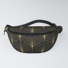 At The Piano Bar... Art Deco Gold Pattern Fanny Pack