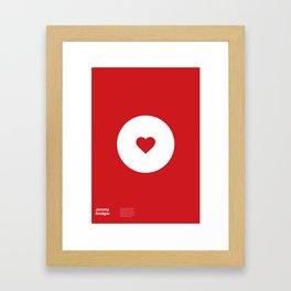 """""""Jammy Dodger"""" Biscuit poster Framed Art Print"""
