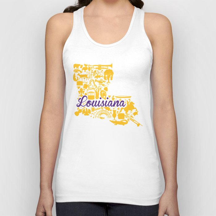 22530df351a91 LSU Louisiana Landmark State - Purple and Gold LSU Theme Unisex Tank ...