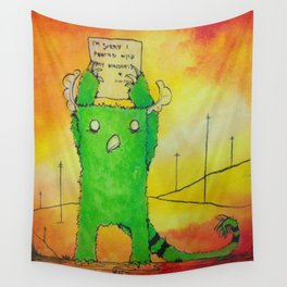 The Sorry Monster Wall Tapestry