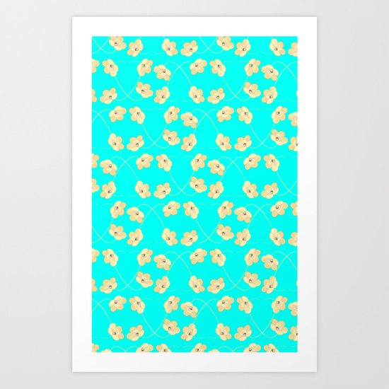 PATTERN FLOWERS Art Print