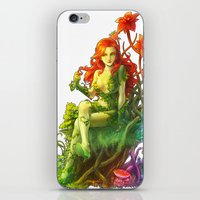 poison ivy iPhone & iPod Skins featuring Poison Ivy by aken