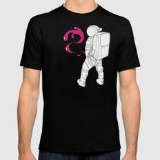 P{ee}ink in Space Mens Fitted Tee SMALL Black