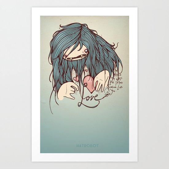 Love is never easy Art Print