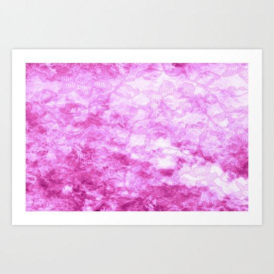 Hot Pink  - JUSTART © Art Print