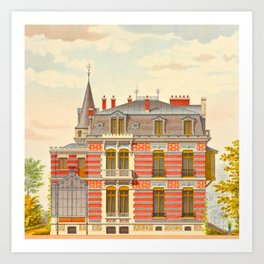 Brick constructions; ordinary brick from a decorative point of view - J. Lacroux and C. Détain - 187 Art Print