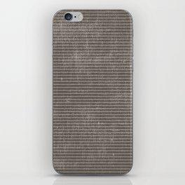 Vintage pastel brown abstract geometrical stripes iPhone Skin