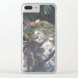Sleeping Lion Clear iPhone Case