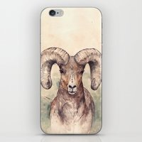 ram iPhone & iPod Skins featuring Ram by Joy Paton